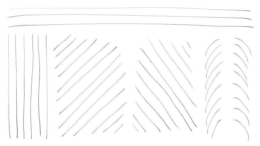長い線を引く練習