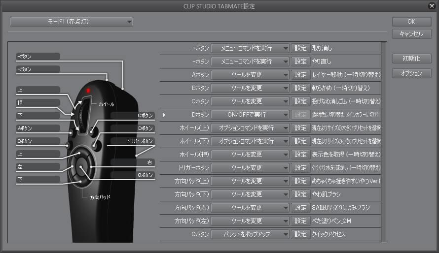 CLIP STUDIO TABMATE設定