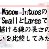 Wacom IntuosのSmallとLargeで描ける線の長さの違いを比較してみた!【ワコムペンタブレット】